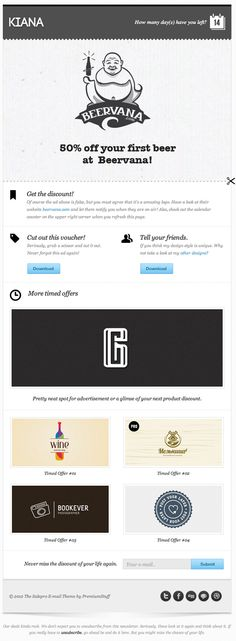 Beautiful Email Newsletters » Blog Archive » Kiana