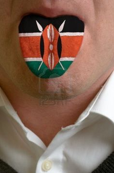 Picture of man with open mouth spreading tongue colored in kenya flag as symbol of values like teaching, learning, multilingual speaking of different languages stock photo, images and stock photography. Kenya Flag, African Shop, Different Languages, Music Files, African Flags, Symbols, Colours, Stock Photos, Lips