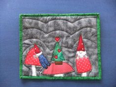 Christmas Gnomes Snack Mat Christmas Gifts Mini by IsabellasWhimsy