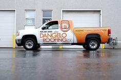 Mobile Wraps | Truck Wraps - Dangelo Roofing