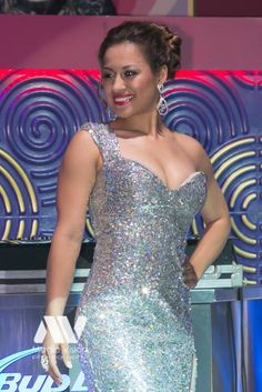 Miss Latina America in a stunning silver A/B sequence gown by Nina Couture from Nina's Collection Boutique.  #spring #prom #pageant #prom2015 #prom2k15 #promdress #grad #graduation #grad2015 #gown #gowns #dress #dresses #fashion #photoshoot #party. #houseofravi #ninascollectionboutique #ninascouture #ninascollection @ninascollection Call or visit us today 905-896-9177 www.NinaCouture.ca 2515 Hurontario St. Mississauga ON. Canada Prom 2015, Miss America, Prom Dresses, Formal Dresses, Beauty Pageant, Latina, Graduation, Canada, Photoshoot