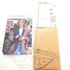 Butterick Vintage Misses Jacket 4912 Sewing Pattern Sizes 12 14 16 Uncut