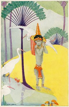 illustration by Dorothy P. Lathrop for Walter de la Mare's Three Mulla-Mulgars (1919)