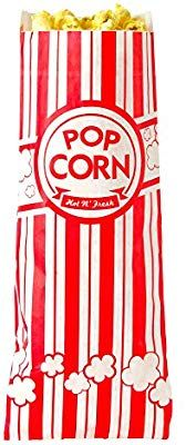 """Concession Essentials Ce Popcorn Bags-500 Popcorn Bags 1 Oz. 2/"""" Pack Of 500"""