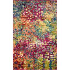 Bungalow Rose Massaoud Multi-colored Area Rug & Reviews | Wayfair