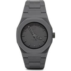D1 Milano Monochrome Watch   LN-CC ($210) ❤ liked on Polyvore featuring jewelry, watches, stainless steel wrist watch, stainless steel jewellery, cc jewelry, buckle jewelry and butterfly watches