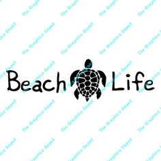 Beach Life  Sea Turtle  svg dxf pdf eps ai by TheGraphicsDepot
