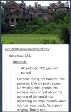 funny pictures of the day (64 pics) Old Haunted School For Sale