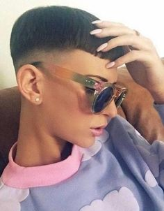 Combining a fade with short bangs. Two of my favorite things.