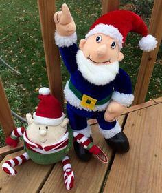 Christmas Plush Elf Characters Lot of 2 Peek a Boo Toys Animal Adventure