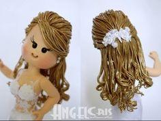 Peinados para Muñecas porcelana fria PRIMERA PARTE / Hairstyles for cold porcelain dolls PART ONE - YouTube