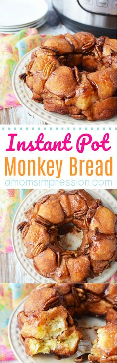 This Easy Monkey Bread recipe is perfect for a quick breakfast or even dessert. You can pull apart each little morsel to feed a crowd with ease. Since we made it with canned biscuits you can have it ready in just a few minutes time using your Instant Pot. Monkey Bread, Instant Pot Pressure Cooker, Pressure Cooker Recipes, Pressure Cooking, Bread Recipes, Crockpot Recipes, Yummy Recipes, Desserts For A Crowd, Dessert Recipes