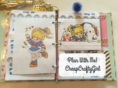 Plan With Me | TDS Planner | RAINBOW BRITE THEME! - YouTube