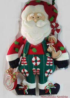 Santa+con+galleta+de+jengibre+en+fieltro