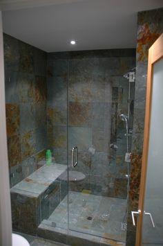 Bathroom Remodel Ideas, love the slate tile