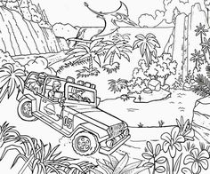 Jurassic Park Color Page