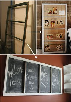 Repurposing Old Windows into Tables | finishing up our vintage finds that also organize is this