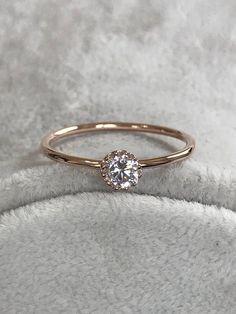 Rings Engagement Ring Rose Gold Ring Wedding Ring Promise #putaringonit #weddingring