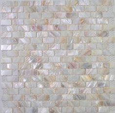 White mother of pearl tiles MOP shell Tiles - need to check out soho studio designs