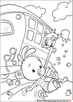 Chicken Little And Friend Watch Theatre Coloring Page Disney