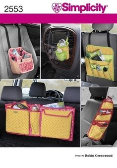 CAR ORGANIZERS PATTERN / Trip and Travel Storage for Kids and Adults. $6.99, via Etsy.