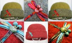 Dragonfly Embroidery hat by ccmhats.com Snowflake Embroidery, Hat Embroidery, Custom Embroidery, Embroidery Designs, Carrie Mulligan, French Knots, Frou Frou, Flowering Vines, Feeling Special