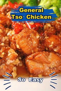 With this easy General Tso Chicken Recipe, you can make this Chinese food favorite anytime. Copycat Recipes, Meat Recipes, Asian Recipes, Chicken Recipes, Cooking Recipes, Ethnic Recipes, Dishes Recipes, Chicken Thights Recipes