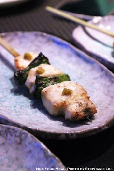 Chicken Breast with Shishito Peppers Yakitori at TEISUI in New York City