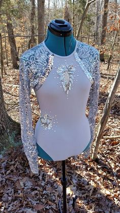 Grey leotard altered and blinged by Diva Dance Costume Creations. Visit us on … - Leotards Dance Costumes For Sale, Dance Costumes Lyrical, Lyrical Dance, Ballet Costumes, Dance Leotards, Latin Dance, Dance Outfits, Dance Dresses, Figure Skating Dresses