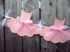 Ballet Tutu Banner, Tutu Garland, Ballet Birthday, Ballet Baby Shower by CraftyCue on Etsy https://www.etsy.com/listing/213428889/ballet-tutu-banner-tutu-garland-ballet