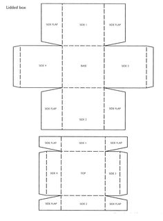 square box template craft ideas pinterest templates box and