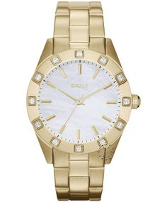 DKNY Crystal Gold Stainless Steel Bracelet Η τιμή μας: 189€ http://www.oroloi.gr/product_info.php?products_id=33519