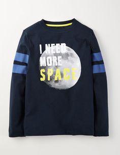 Midnight Long Sleeve Logo T-shirt Boden