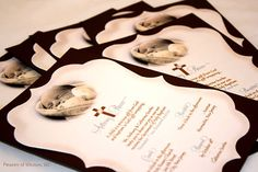 Vintage Baptism or Christening Invitations by SDezigns   (baby photo by Josh Lynn Photography)