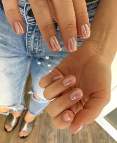 Nude Nails, Pink Nails, Acrylic Nails, Stylish Nails, Trendy Nails, Cute Short Nails, Hair And Nails, My Nails, Uñas Fashion
