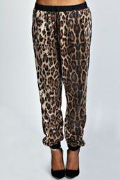 Lily Animal Sequin Trousers