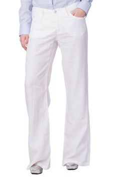 d5b2a20ae8 ARMANI JEANS Linen Trousers Size 29 White Metal Logo Detail Zip Fly Bootcut  Leg  fashion  clothing  shoes  accessories  womensclothing  pants (ebay  link)