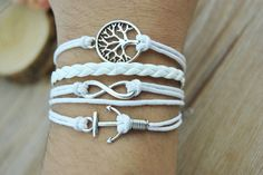 Silver alloy Tree of Life  Anchor  Infinity charm by Richardwu, $3.99