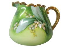 Limoges Lily of Valley Beverage Pitcher