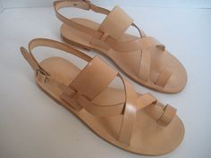HANDMADE LEATHER SANDALS by tuto on Etsy, $70.00