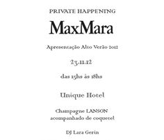 MaxMara – Private Happening Alto-Verão