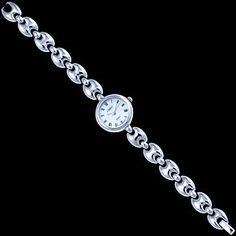 Silver watch, round