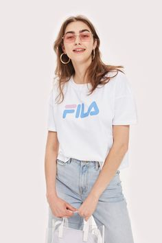 Crop Logo T-Shirt by Fila - T-Shirts - Clothing. Fila OutfitShirt Outfit Sports ... 1648a8113ebe5