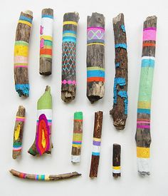 Stick art?  I should do this and sell them as shaman sticks or some nonsense