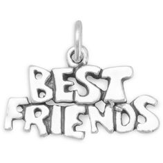 Best friends charm ($28) ❤ liked on Polyvore featuring jewelry, pendants, sterling silver charms, sterling silver jewelry, sterling silver charms pendants, sterling silver jewellery and charm jewelry