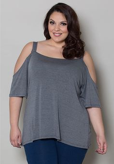 Lynn Cold Shoulder Top From The Plus Size Fashion Community At www.VintageAndCurvy.com