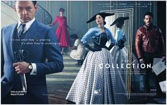 HOLLYWOOD SPY: PREMIUM SPOTLIGHT ON POST WW2 SET FASHION HOUSE TV SERIES 'THE COLLECTION' WITH TOM RILEY AND RICHARD COYLE!