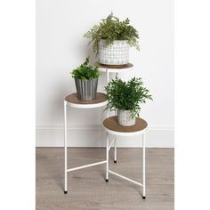 Shop Kate and Laurel - Fields Tri-Level Metal and Wood Plant Stand - Overstock - 20731179 - rustic brown/white Decor, Plant Stand, Interior Plants, Plant Decor Indoor, Home Decor, Metal Plant Stand, Wood Plant Stand, Plant Decor, Indoor Plants
