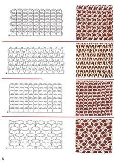 Diy Crafts - View album on Yandex. Crochet Motifs, Crochet Diagram, Crochet Stitches Patterns, Lace Patterns, Crochet Chart, Knitting Stitches, Crochet Lace, Stitch Patterns, Knitting Patterns