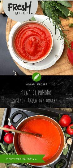 Naučte se skvělou italskou omáčku sugo. Je to základní omáčka z rajčat, bez které se žádný ital v kuchyni neobejde. Můžete ji zavařit do sklenic a v zimě si ji vychutnat na pizze, těstovinách, nocích nebo zapečených lasagních.   #freshbites #freshbitesrecipe #freshrecipe #sugo #sugopomodoro #sugodipomodoro #rajcata #zavarovani #rajcatovaomacka #tomato #tomatosoup #italia #italie #italskakuchyne #pizza #testoviny #pasta #soup #rajska #rajskaomacka #leto Cantaloupe, Fresh, Pizza, Lasagna